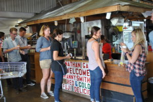 Guests had the opportunity to browse the store at Peters Orchard.