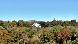 Once a vast prairie void of trees, the 260-acre Arbor Farm now boasts dozens of tree species. In the distance atop the hill with picturesque views of South Table Rock Creek below is Arbor Manor, home of Arbor Day Founder J. Sterling Morton. Hazelnut Research Field (foreground) – second largest in the U.S. – helps show the way to better food production practices, environmental health and innovative agroforestry practices.