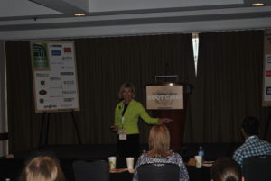 Mollie Young, Nametag International, ended the event with tips to create memorable names for brands and products.